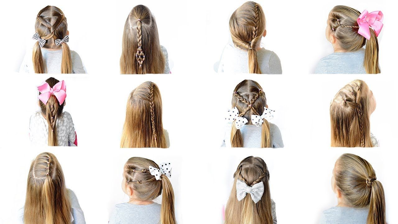 12 Easy Heatless School Hairstyles Quick And Easy Hairstyles Hair Styles Easy Work Hairstyles Kids Hairstyles