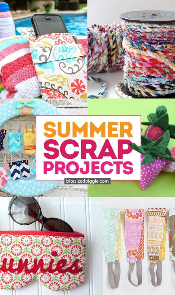Summer Scrap Projects You'll LOVE | Sewing projects for beginners, Sewing projects, Diy, crafts sewi