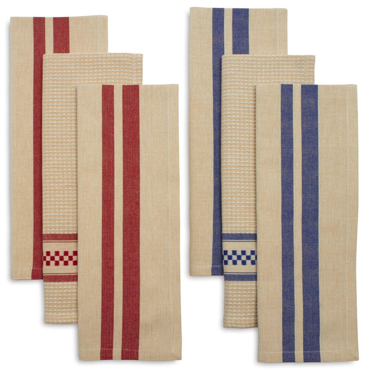 Sainte-Germaine Striped Kitchen Towels, Set of 3 | Sur La Table