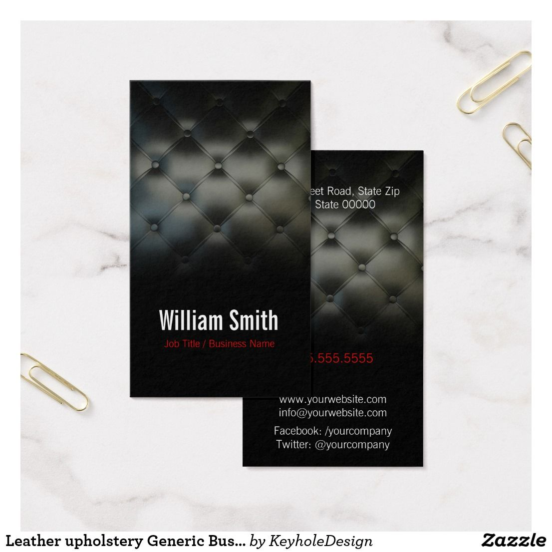 Leather upholstery Generic Business card | Pinterest | Upholstery ...