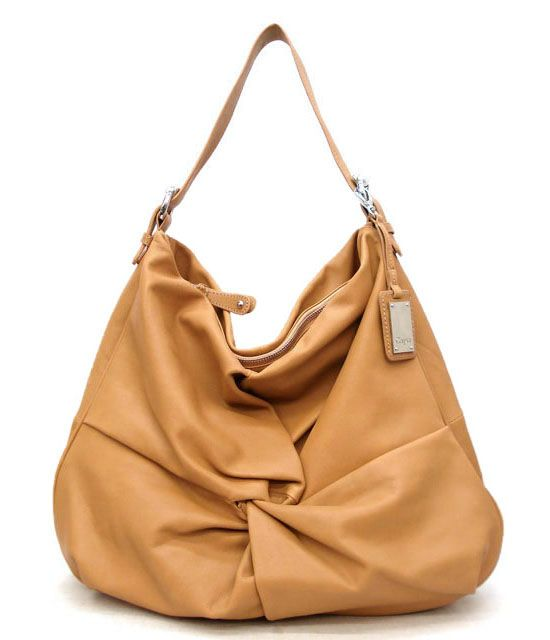 Honey colored leather :: slouchy hobo