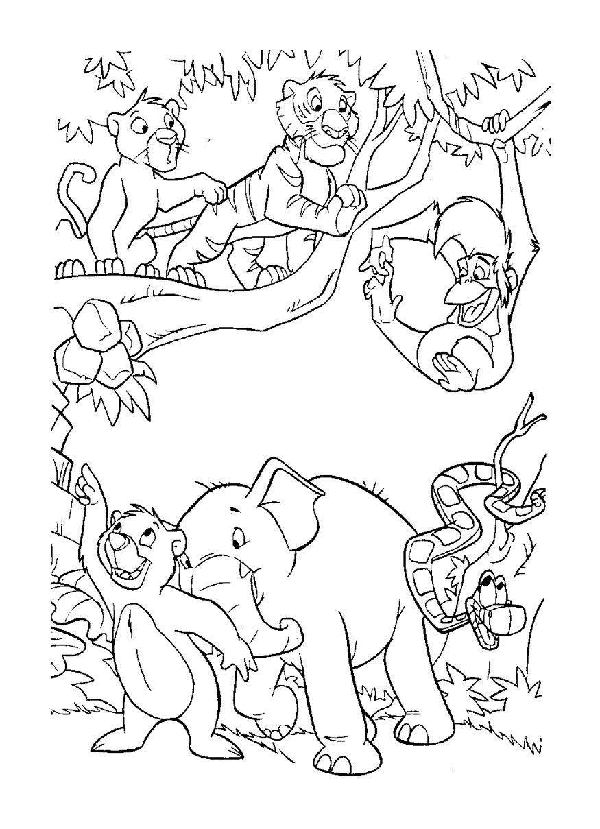 My Jungle Book Coloring Pages  Coloring books, Cartoon coloring