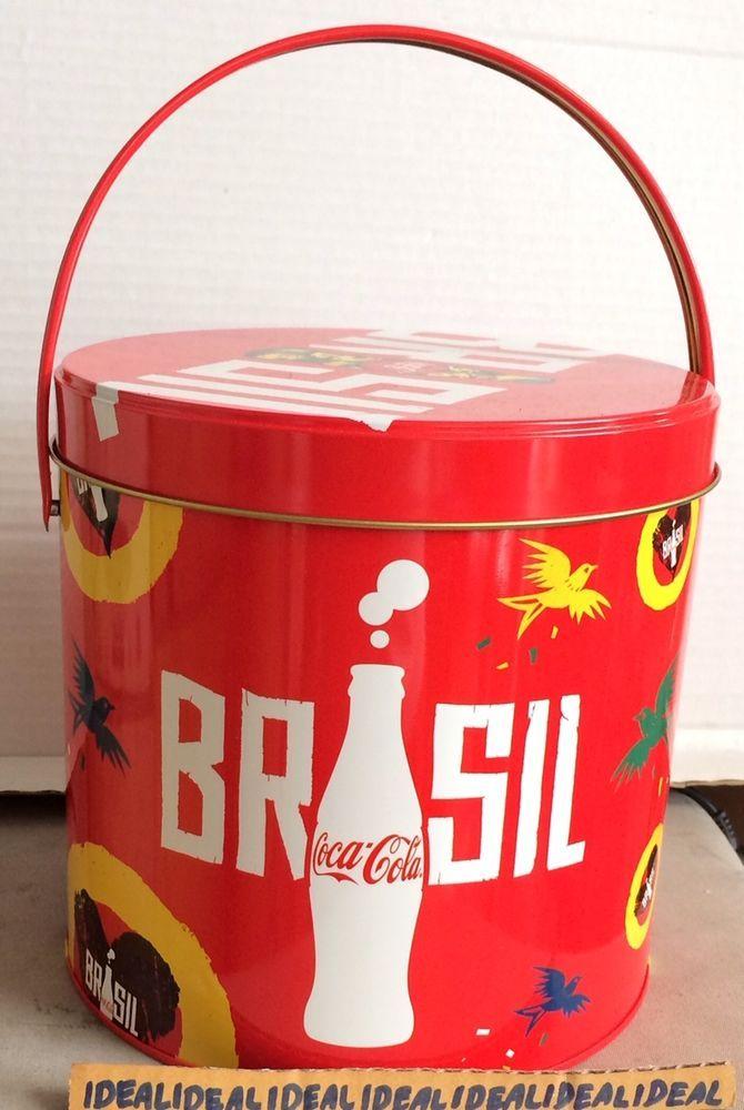 COCA COLA Coke FIFA WORLD CUP 2014 POPCORN TIN / BUCKET can    eBay