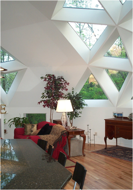 interior view geodesic dome triangle windows geodesic dome