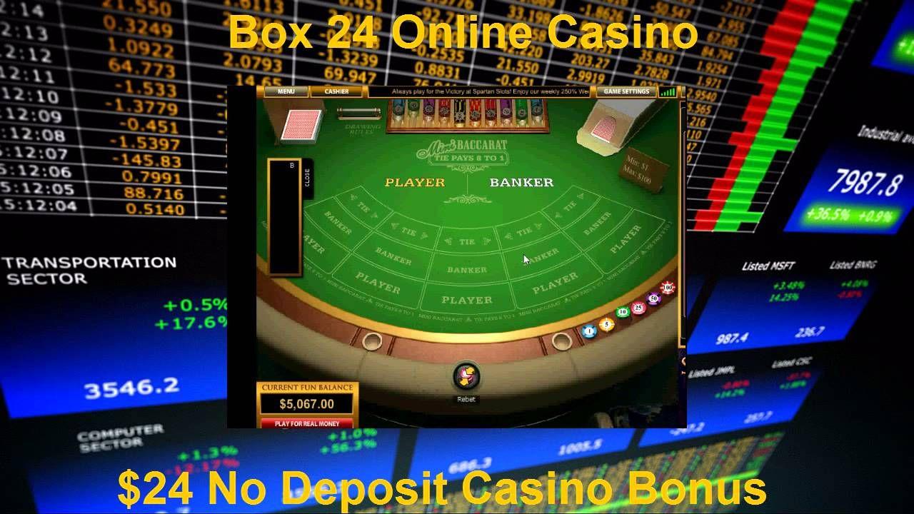 Mini Baccarat 24 No Deposit Casino Bonus Box24 Casino
