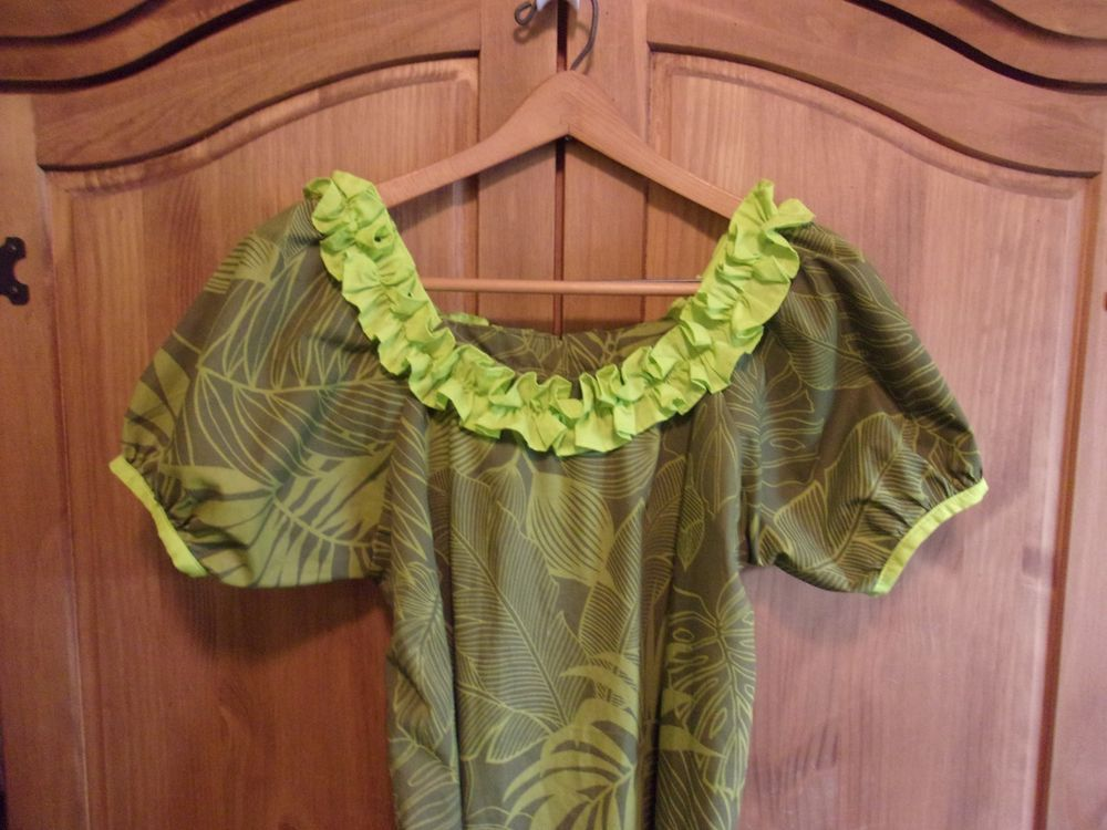 Hawaiian Muumuu Hawaiian Floral Costume Size 2X Home Made #Handmade #VintageHawaiianMuuMuu #Casual