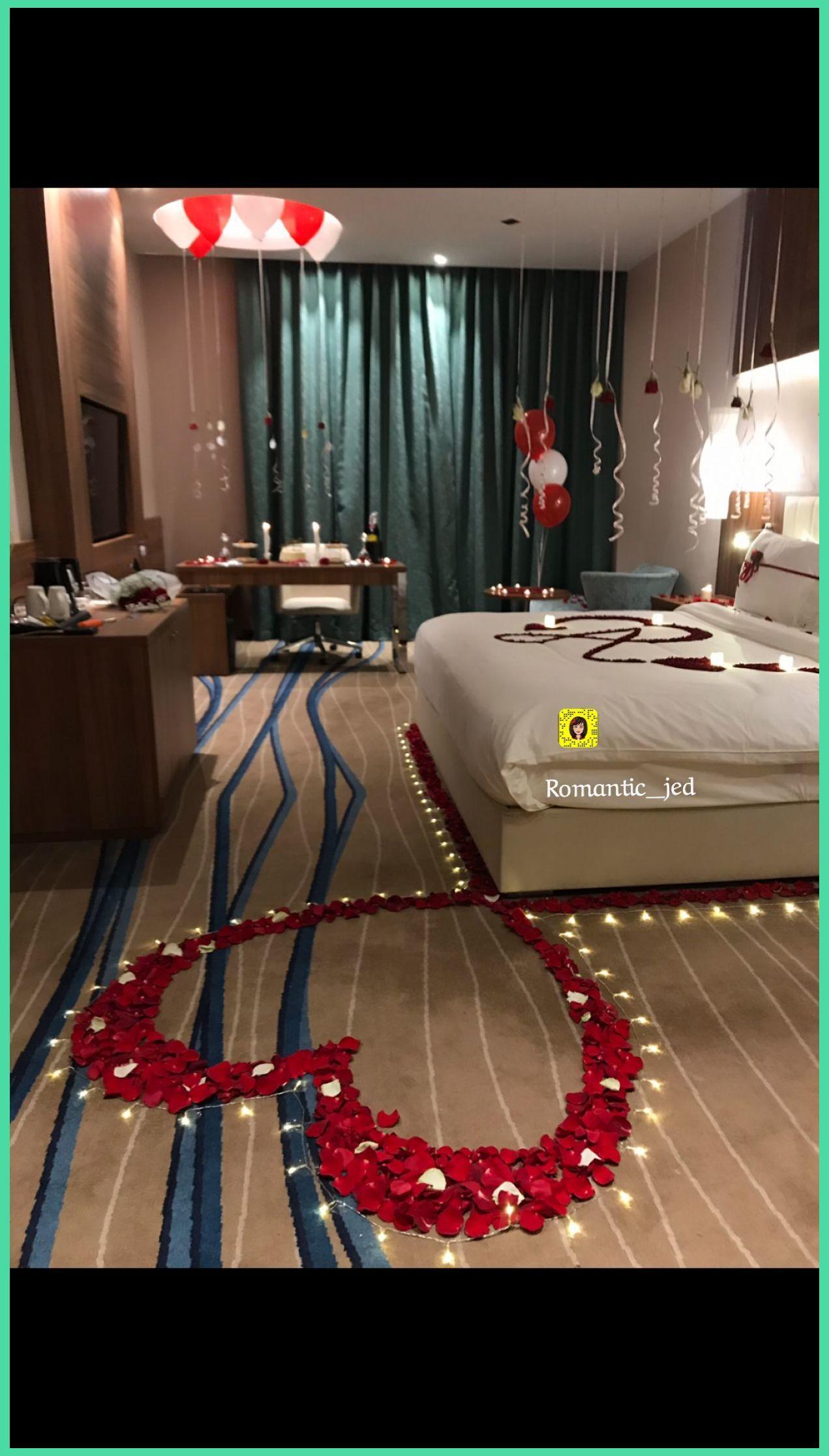 حكاية فرح لتنسيق الحفلات وغرف العرسان بجدة Romantic Bedroom Ideas For Him Wedding Night Room Decorations Romantic Dinner Decoration Wedding Room Decorations