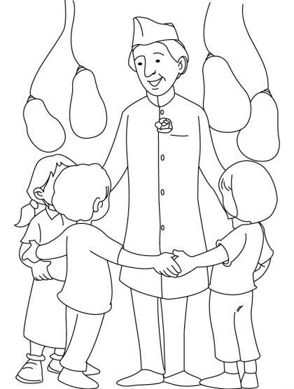 Jawahar Lal Nehru Coloring Page Download Free Jawahar Lal Nehru