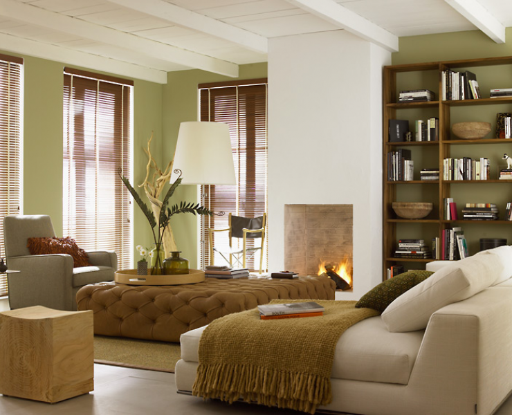 Natürlich Wohnen Ganz Modern Gästezimmer / Bibliotek ??? Grün Und Braun  Beige