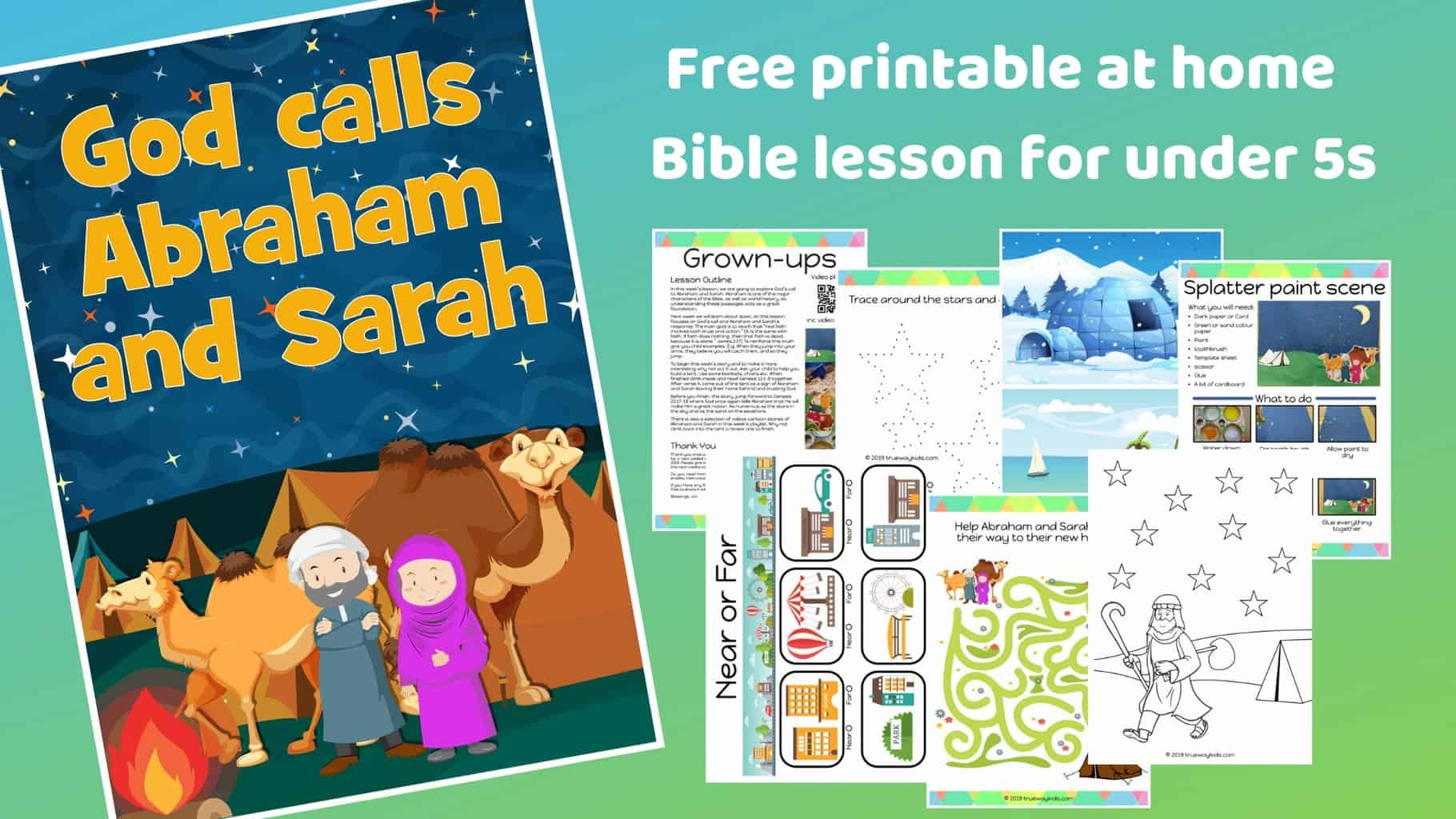 God Calls Abraham And Sarah Free Bible Lesson For Under
