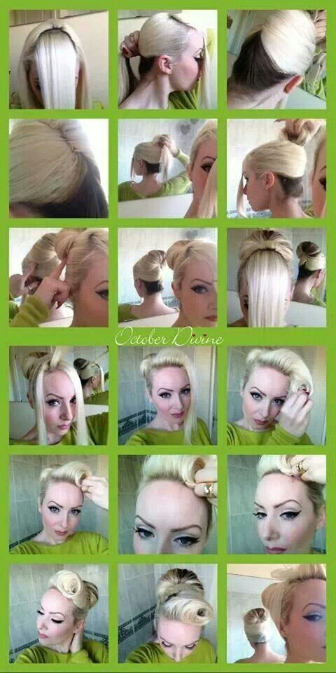 Pinup Rockabilly Retro Vintage Inspired Hair How To Tutorial