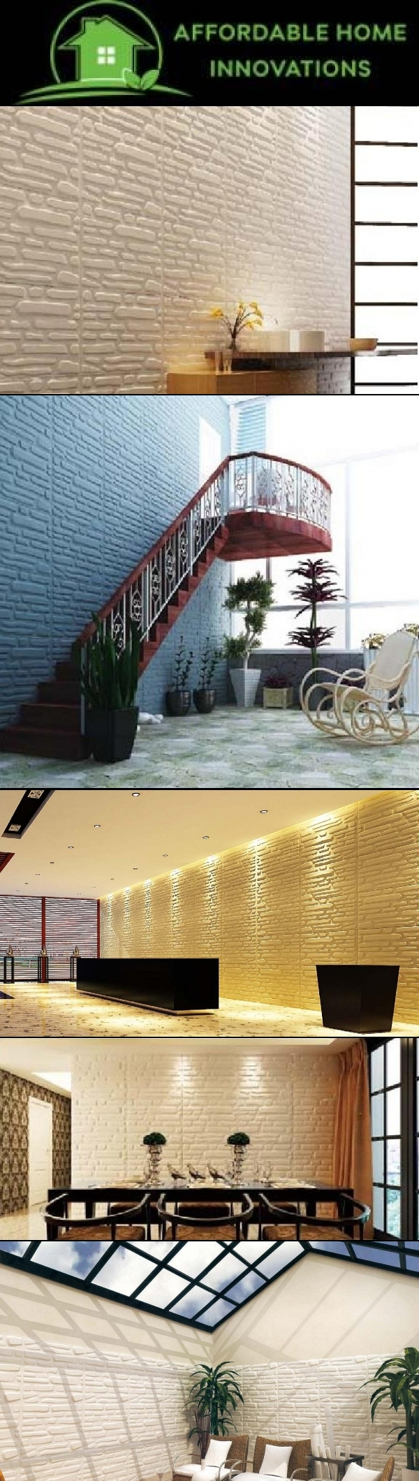 Brick 3D wall decor to transform your room. | Wall Decor | Pinterest ...