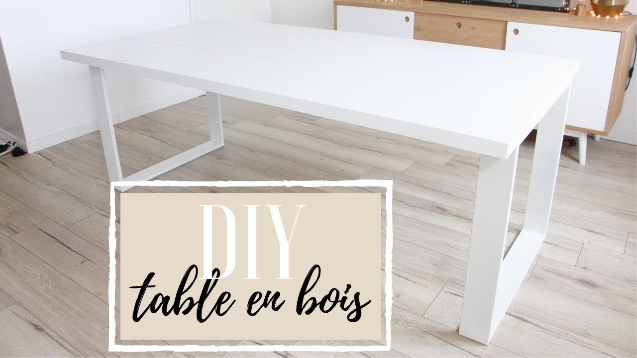 Diy Fabriquer Une Table En Bois Youtube In 2020