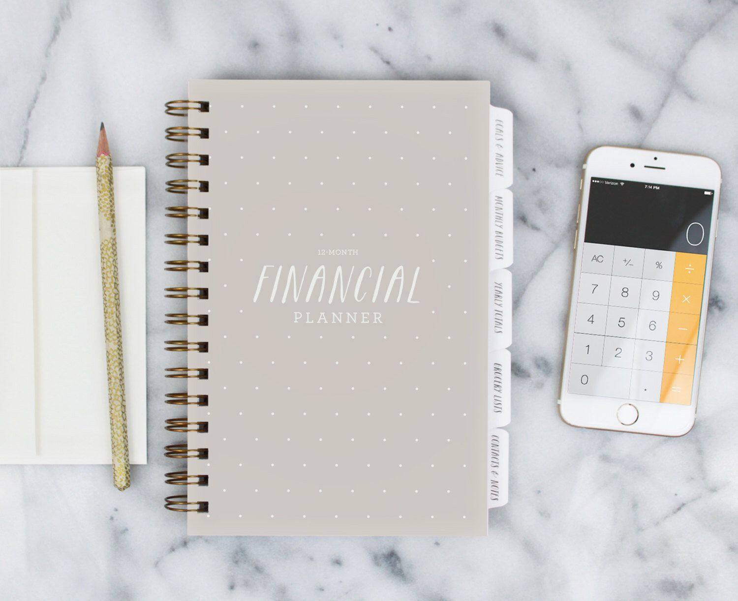 Financial Planner 12month Fillin the Date Planner for