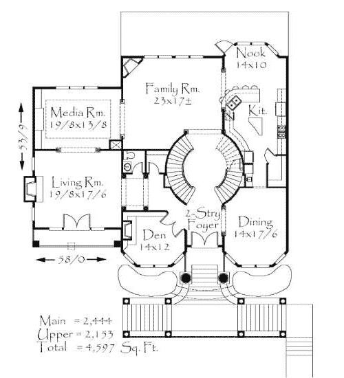 Plan 8583ms Front View Lot House Plans Modern Style House Plans How To Plan