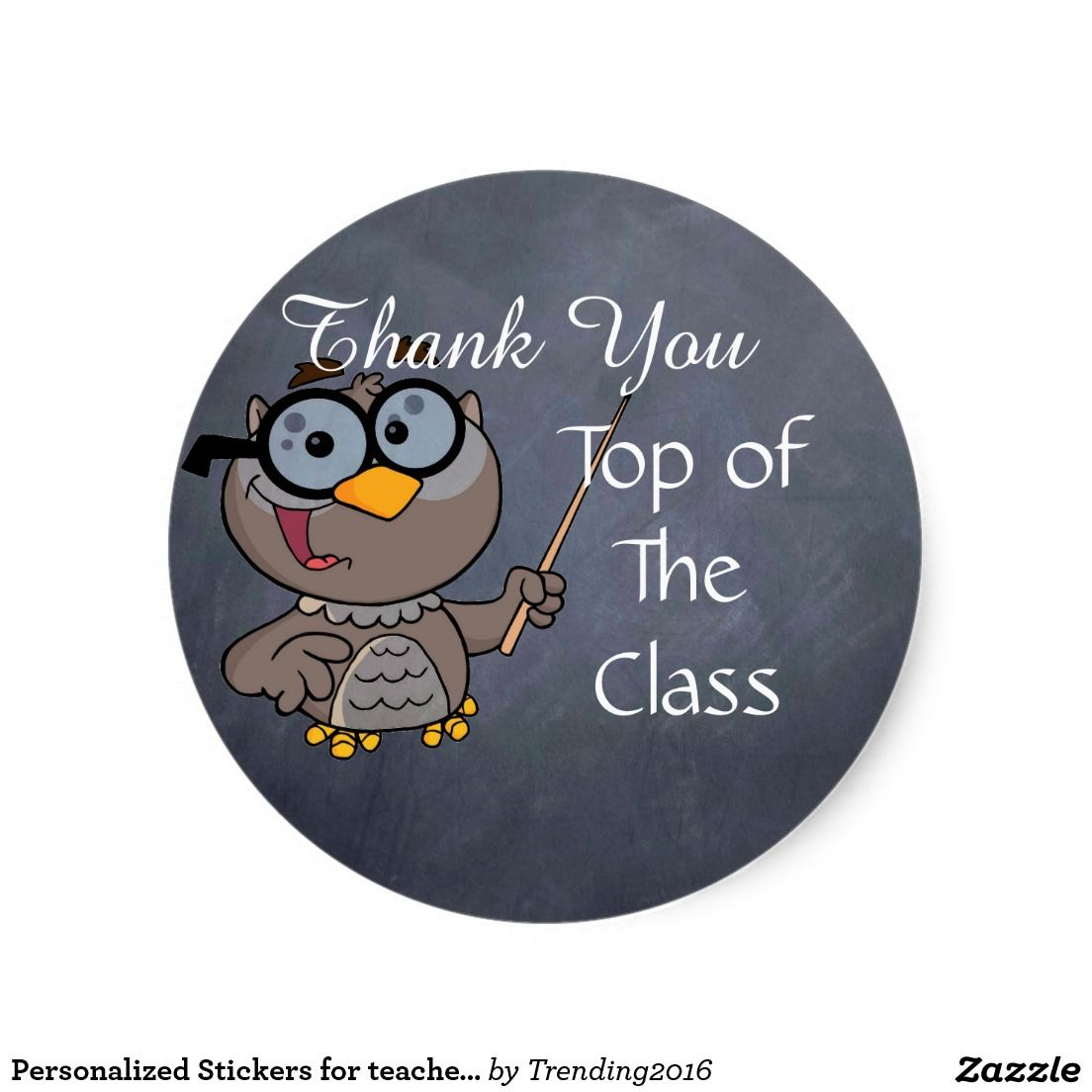 Personalized stickers for teachers schools owl