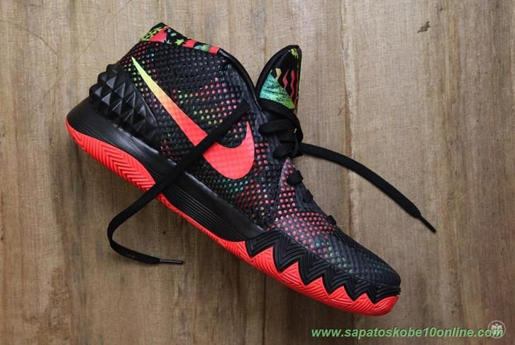 pretty nice f5d59 1afb1 authentic venda de tenis online 705277 016 preto branco carmesim brilhante  antracite dream nike kyrie 1