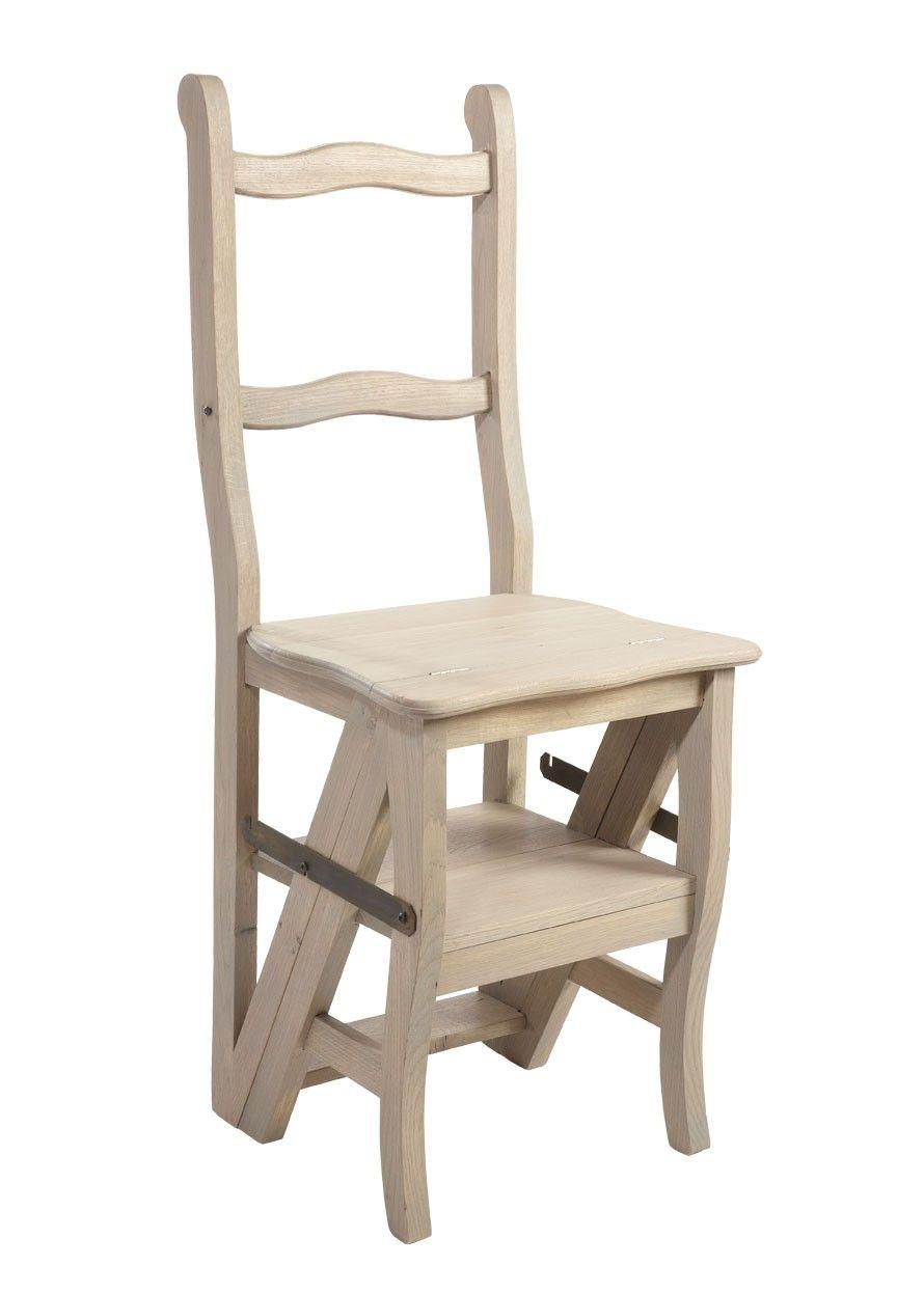 chaise escabeau en chêne http://www.maisondunreve/cuisine