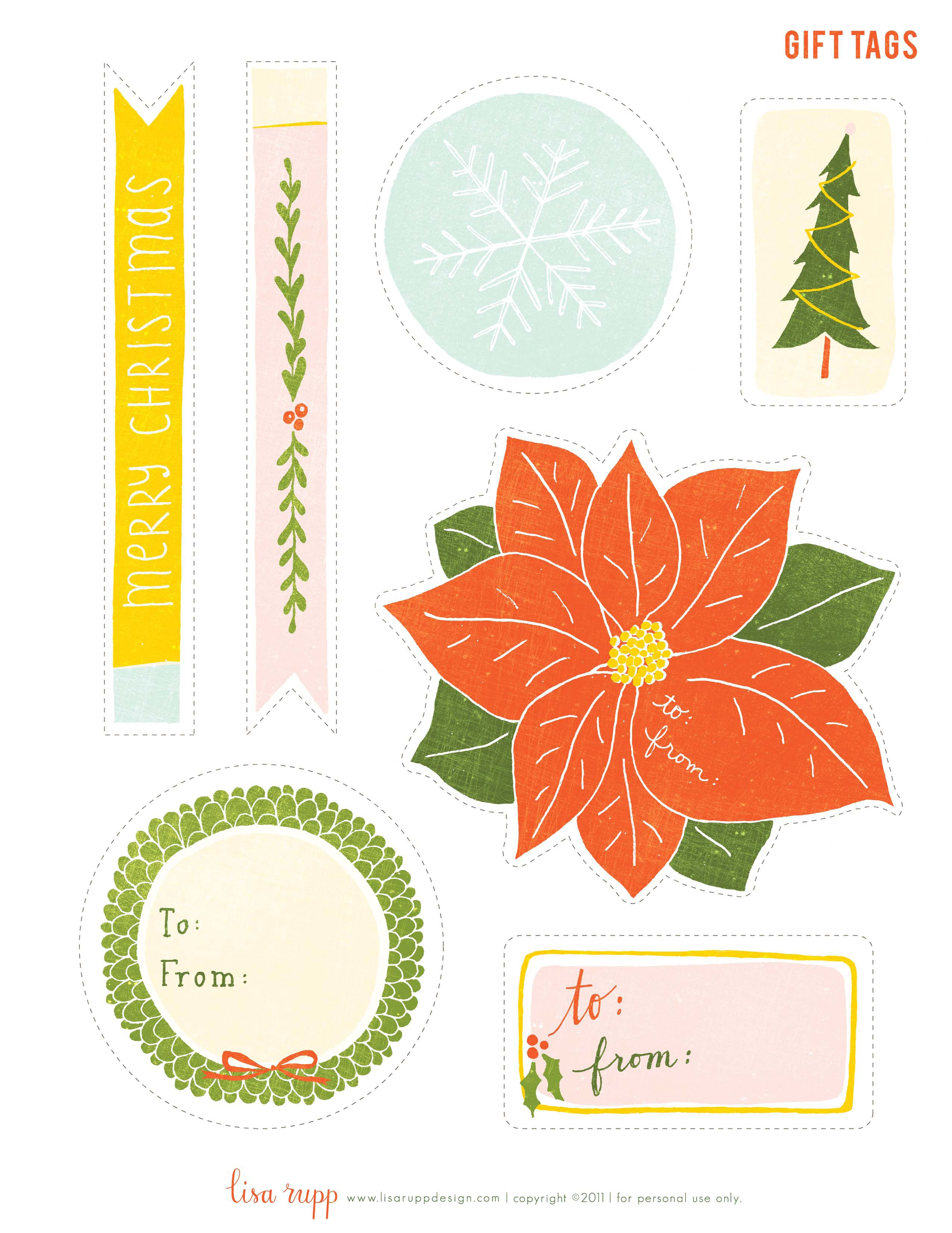 Free Printable Gift Labels From Gifted Magazine