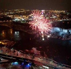 New Year Fireworks Niagara Falls