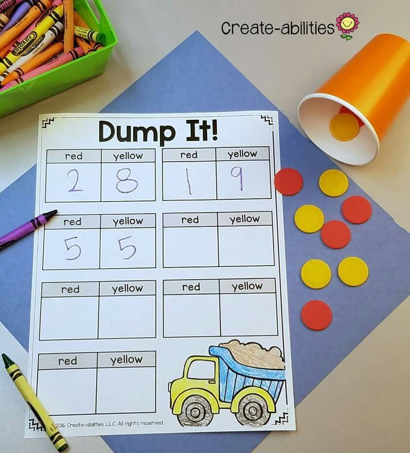 Dump It! for combinations of 10 | Kindergarten | Pinterest | Math ...