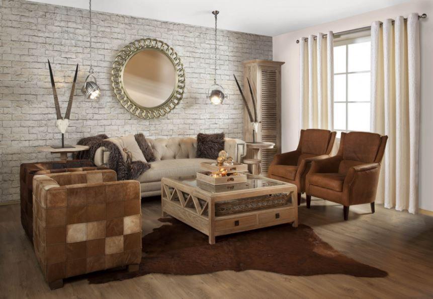 De meubelen in deze woonkamer zijn allemaal uitgevoerd in bruintinten wat resulteert in een sfeervol geheel | Rofra Home