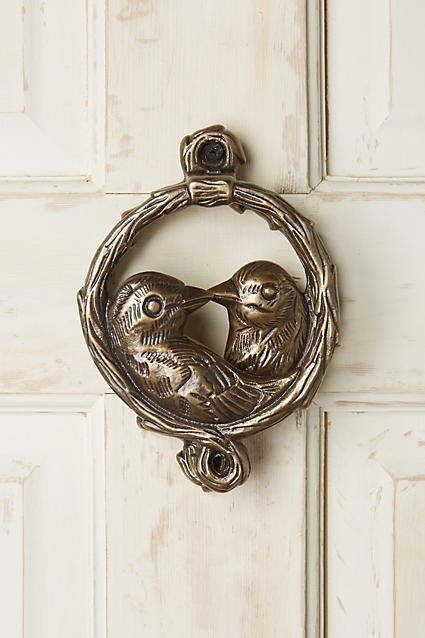 Birds Of A Feather Bronze Door Knocker #anthropologie #ad