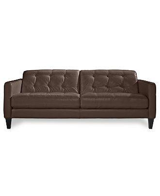Milan Leather Sofa Couches Sofas Furniture Macy S
