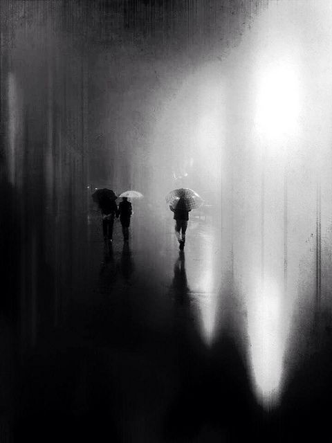 Resultado de imagen para rain painting black and white