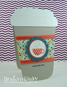 Coffee Cup Card Tutorial and Template