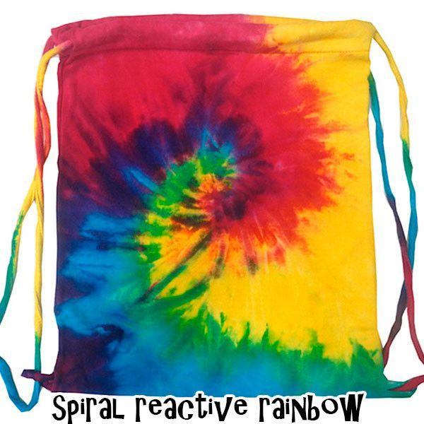 Tie Dye Sport Cinch Bags 0095
