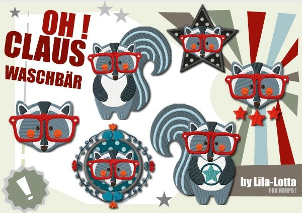 Claus embroidery files - Huups! Stickdateien