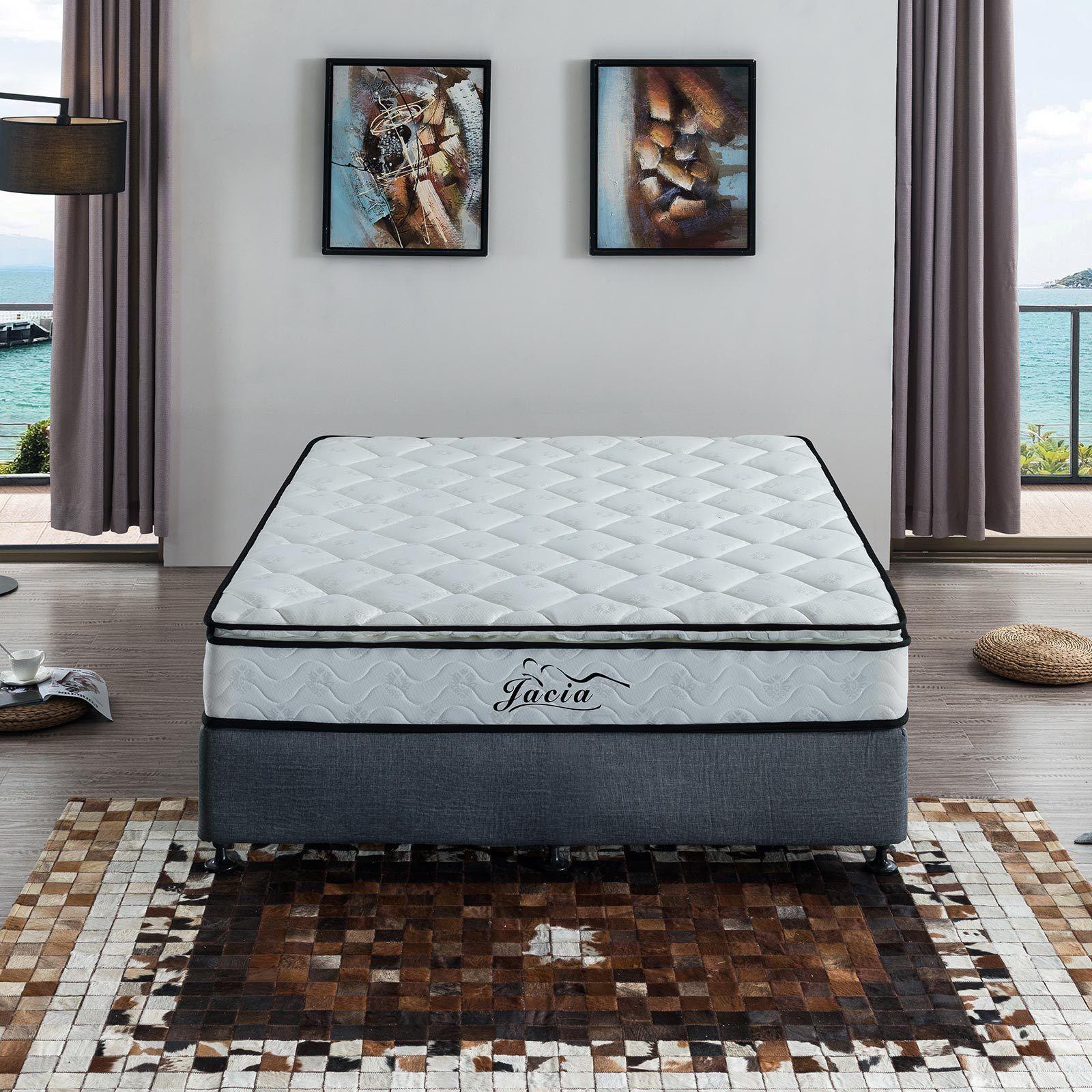 queen mattress pillow top double bed