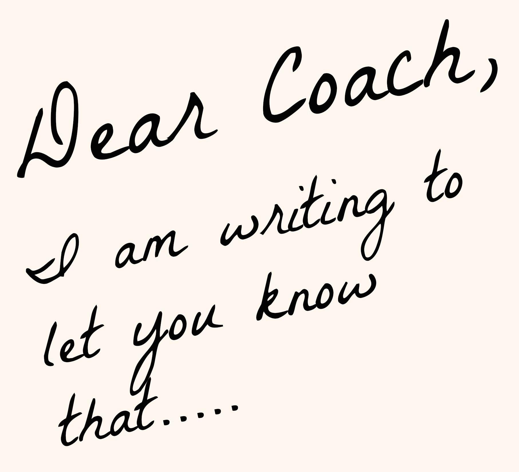 dear coach thank you coach pinterest open letter