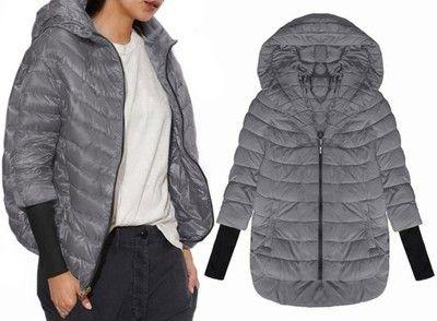Kurtka Oversize Pikowana Sciagacz Dluzszy Tyl P205 6375844308 Oficjalne Archiwum Allegro Winter Jackets Jackets Fashion