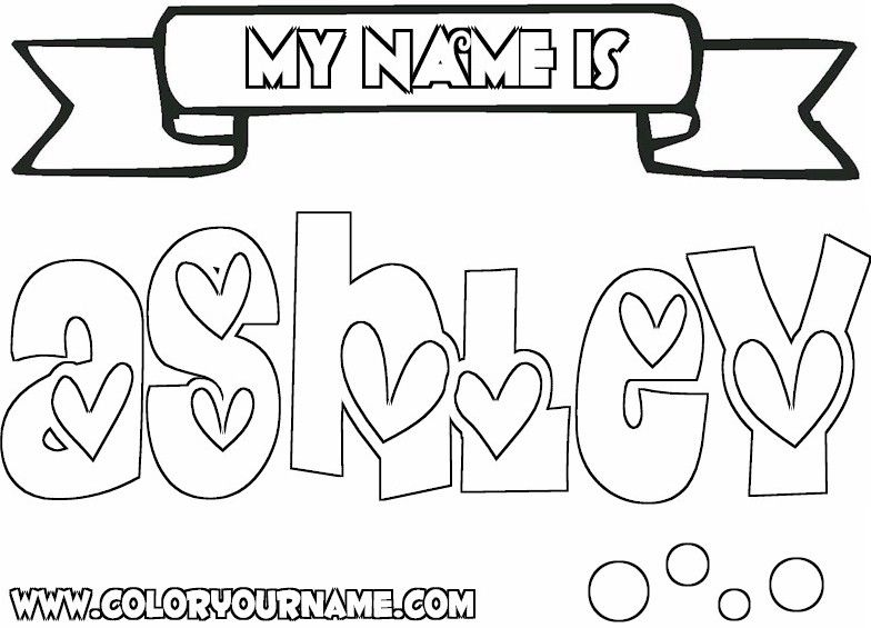 Coloring Pages of Girls Names | Girl Names Index - - > Letter A ...
