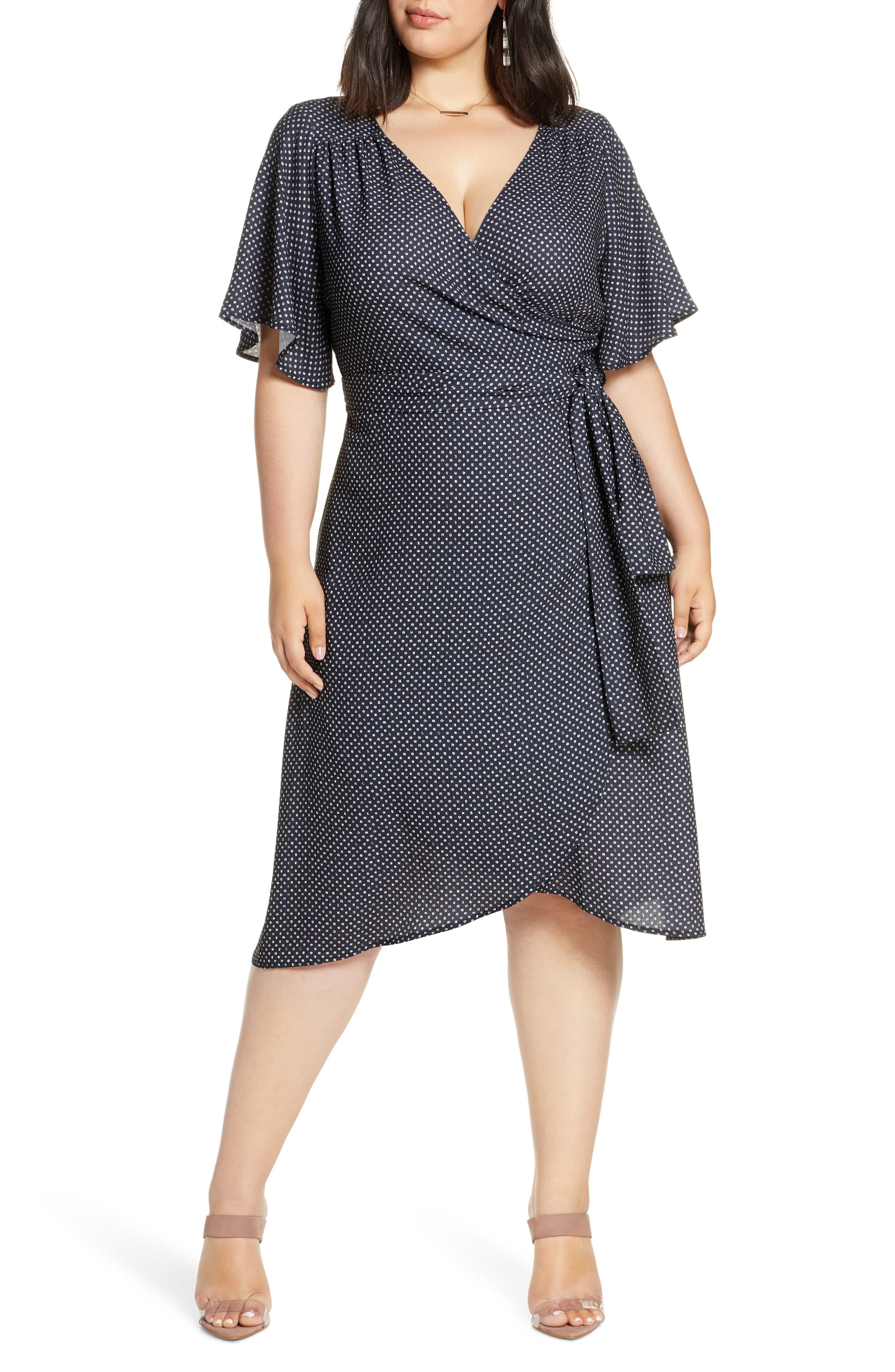 Halogen Faux Wrap Dress Plus Size In 2020 Dresses Two Piece Dress Plus Size Dresses