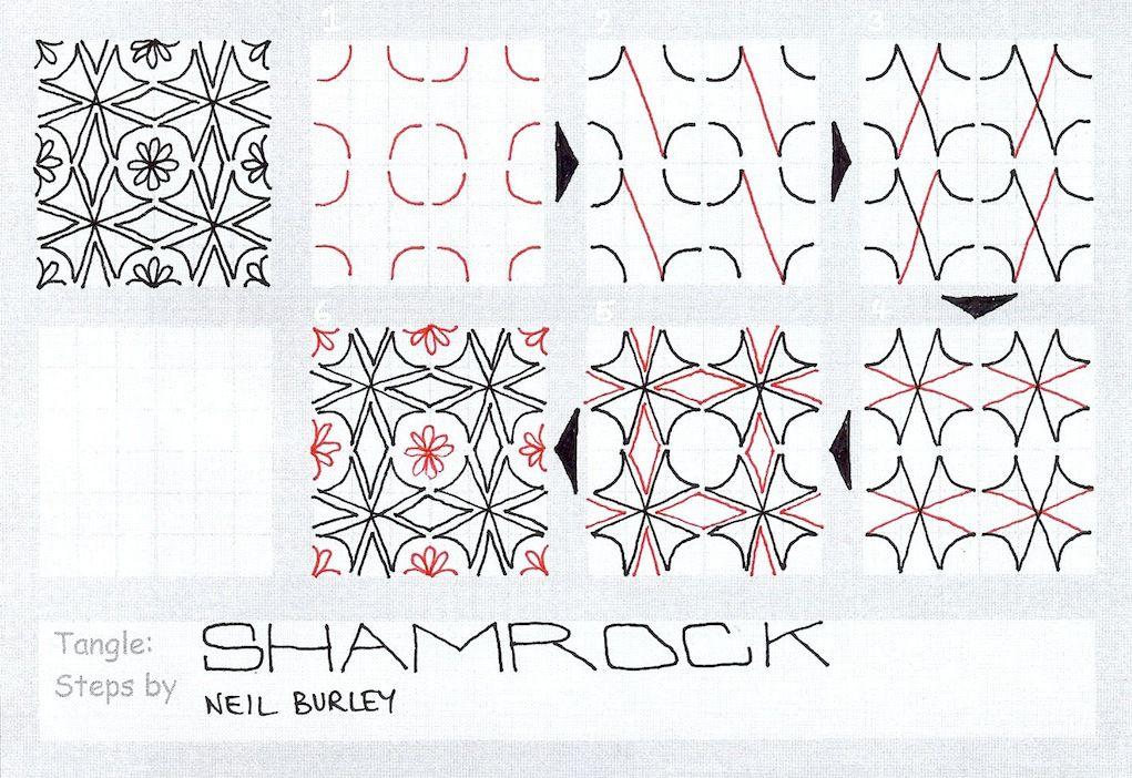 Shamrock - tangle pattern