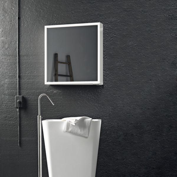 schlichtes design ideen für spiegelschrank badezimmer Splish