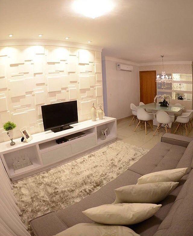 Revestimento 3D living Pinterest Ideas de salón, Sala de estar - decoracion de interiores salas