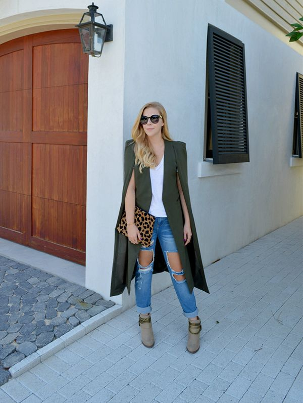 Hands down, the cape jacket is my favorite trend for fall.