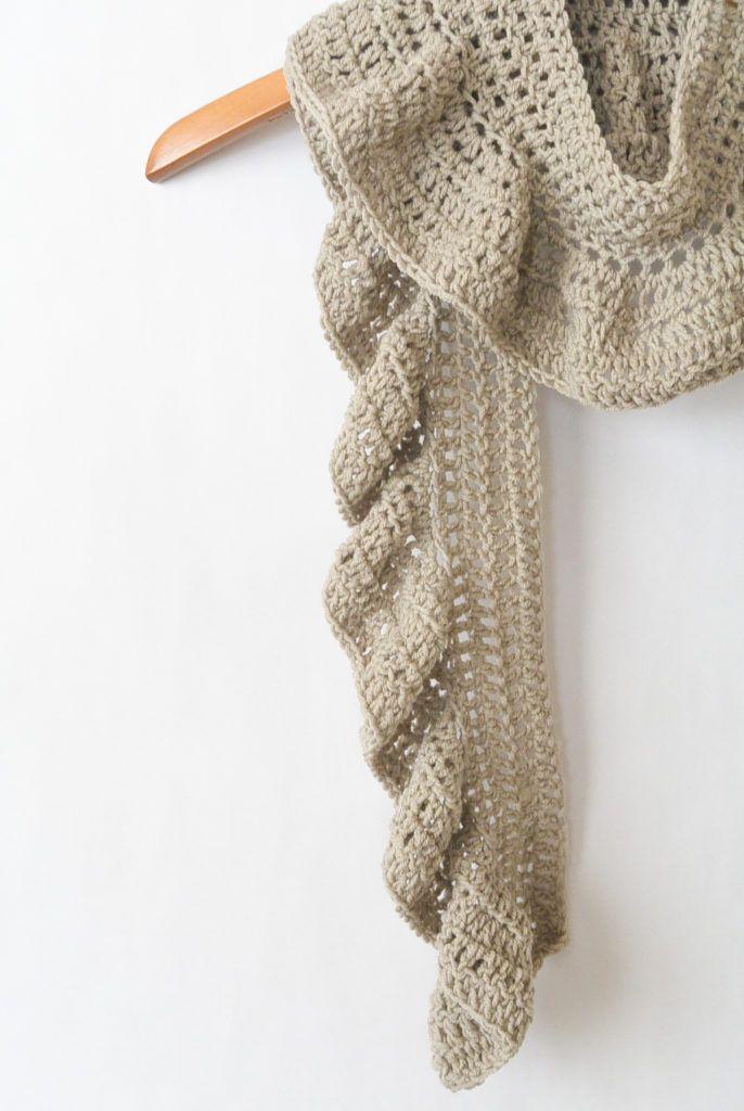Merino Crocheted Ruffle Scarf Pattern | Sewing & stuff | Pinterest