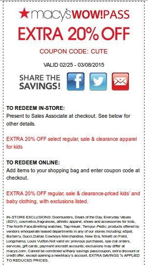 Check out offers from Macys using GeoQpons app on your