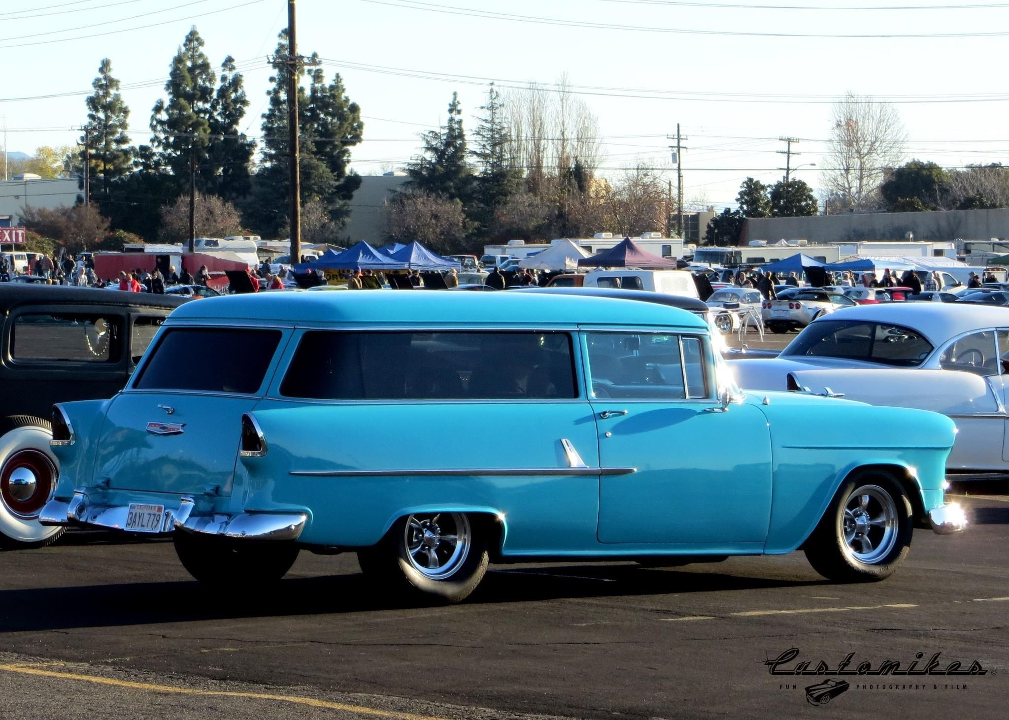 55 Chevy 2 door Nomad. You don\'t see many of these around for sure ...