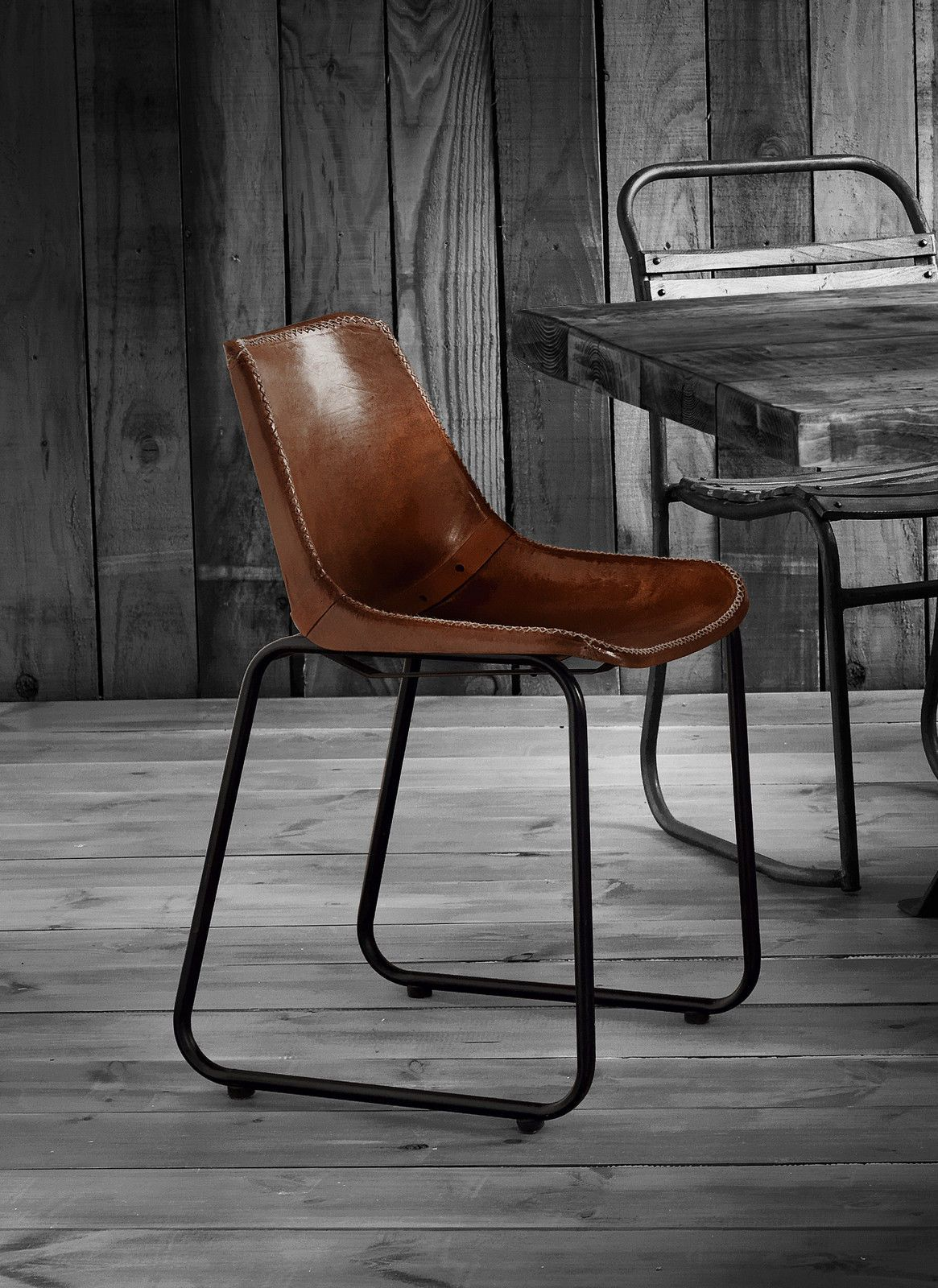 Surprising Vintage Industrial Antiqued Retro Leather Dining Chairs Andrewgaddart Wooden Chair Designs For Living Room Andrewgaddartcom