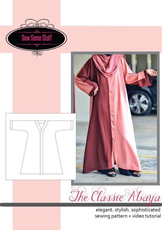 The Classic Abaya Sewing Pattern and Tutorial 6 Sizes S, M, L, XL ...
