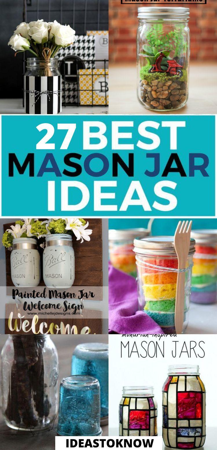 27 Easy Diy Mason Jar Crafts That Look Spectacular Mason Jar Crafts Diy Mason Jar Crafts Jar Crafts