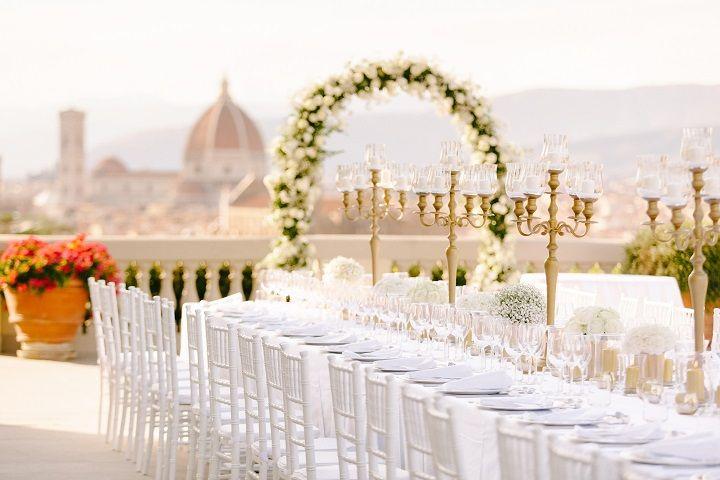 Gold,White wedding reception decorations for a Breathtaking Fairytale Venice Wedding + Steven Khalil wedding dress | itakeyou.co.uk #wedding #venicewedding #destinationwedding #elegantwedding #white #goldwedding #fairytalewedding