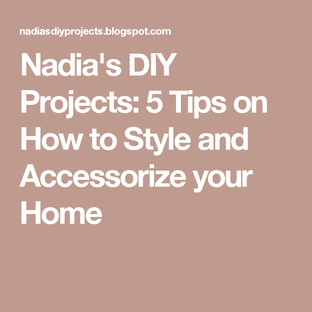 5 Tips on How to Style and Accessorize your Home | Bedroom