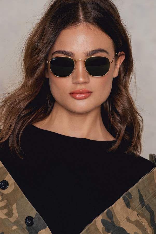 a3843daca174 Ray-Ban Hexagonal Flat Lenses Hexagonal Flat Lenses Copper Flash Hexagon  Sunglasses, Cat Eye
